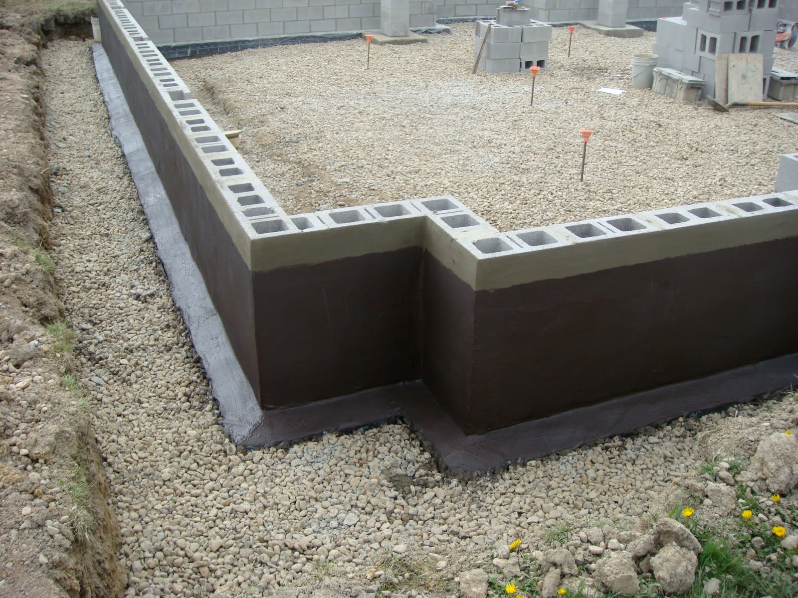 Foundations for Block wall foundation