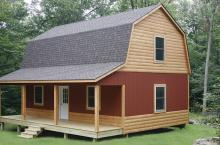 26x32 Hammond Cabin with optional pier foundation and custom siding.